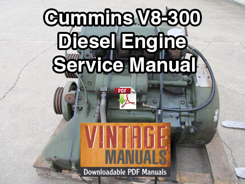 Cummins V Diesel Engine Service Repair Shop Manual Pdf on Wisconsin Engine Specifications